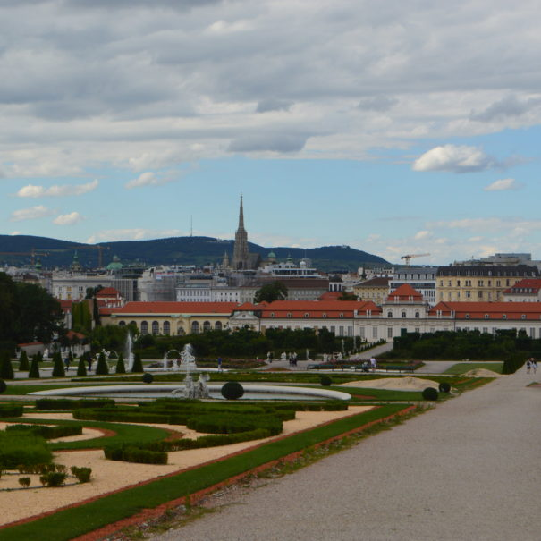 Belvedere mit Blick auf Wien