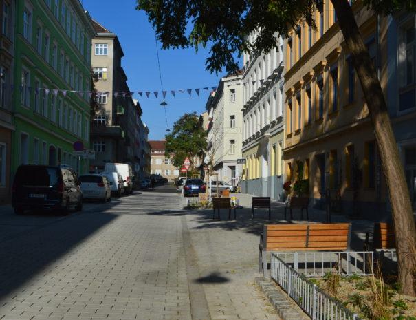Klimaschutzprojekt Schwammstraße in Wien