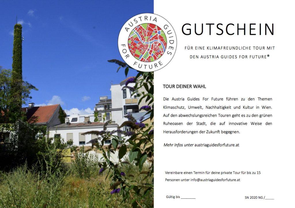 Gutschein für Umwelt und Klimaschutztouren in Wien