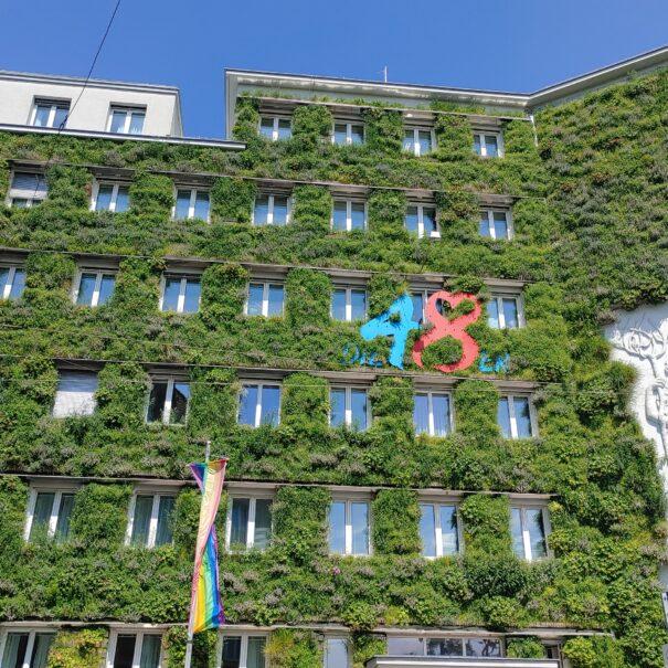 Begrünte Fassade Wien Margareten